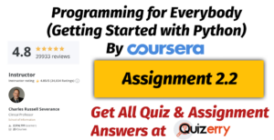Assignment 2.2   Week-4   Programming for Everybody (Getting Started with Python) By Coursera