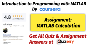 Assignment: MATLAB Calculation | Week-2