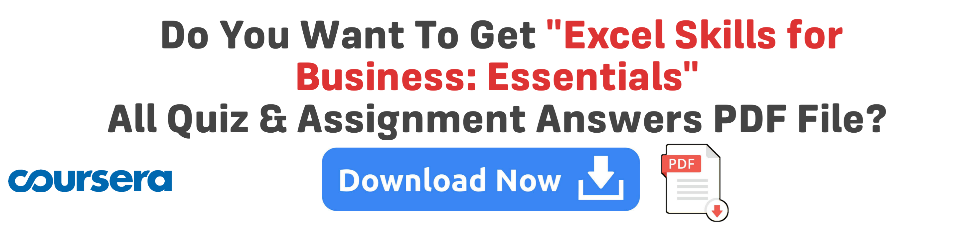 excel skills for business essentials coursera answers